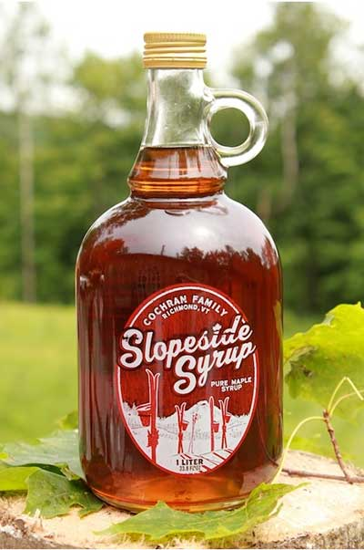 Pure Vermont maple syrup, tapped by a group of skiers at Cochran's Ski Area. PHOTO: Slopeside Syrup