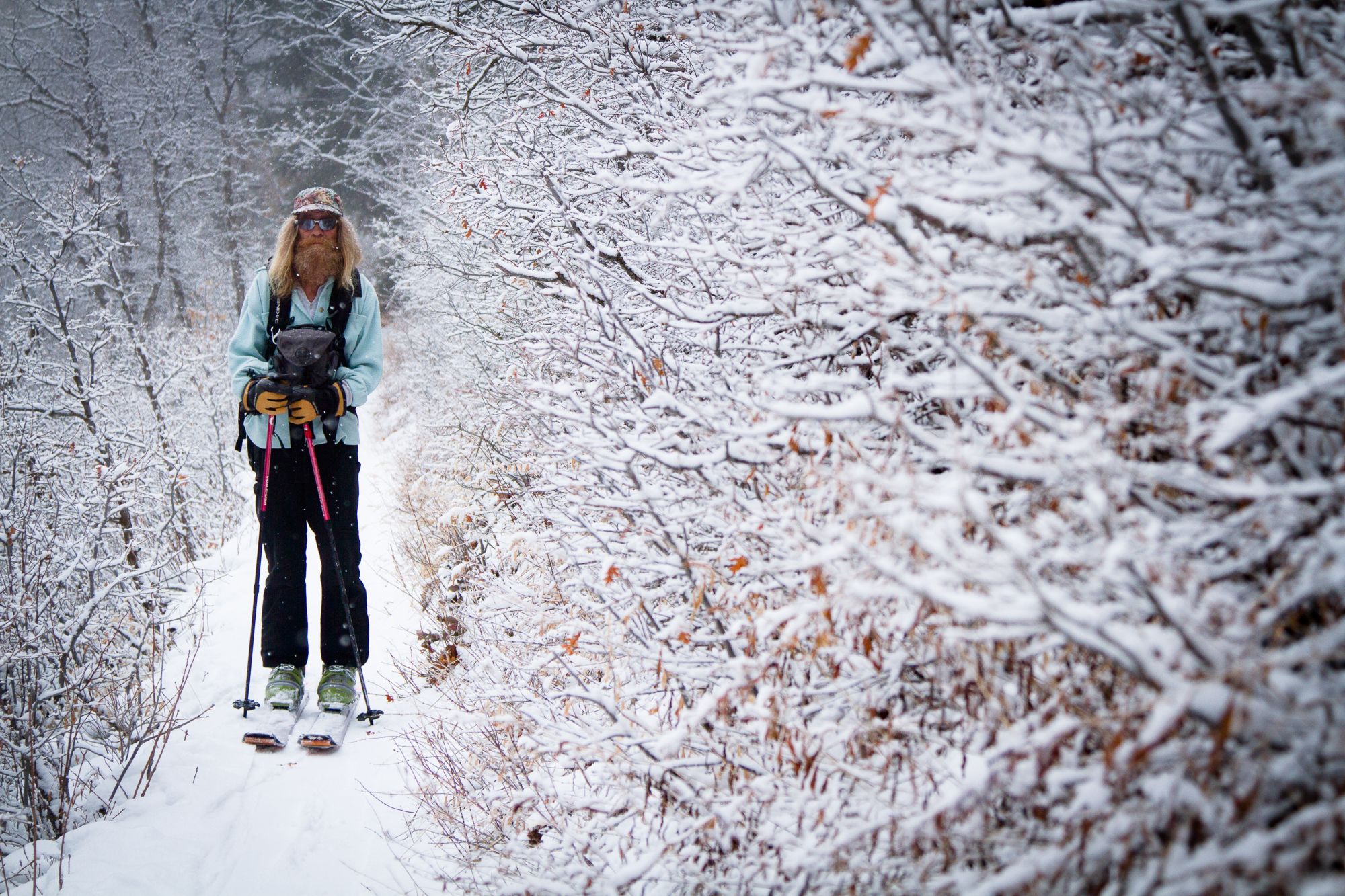 """""""I want to be the only geriatric skier out there."""" PHOTO:"""