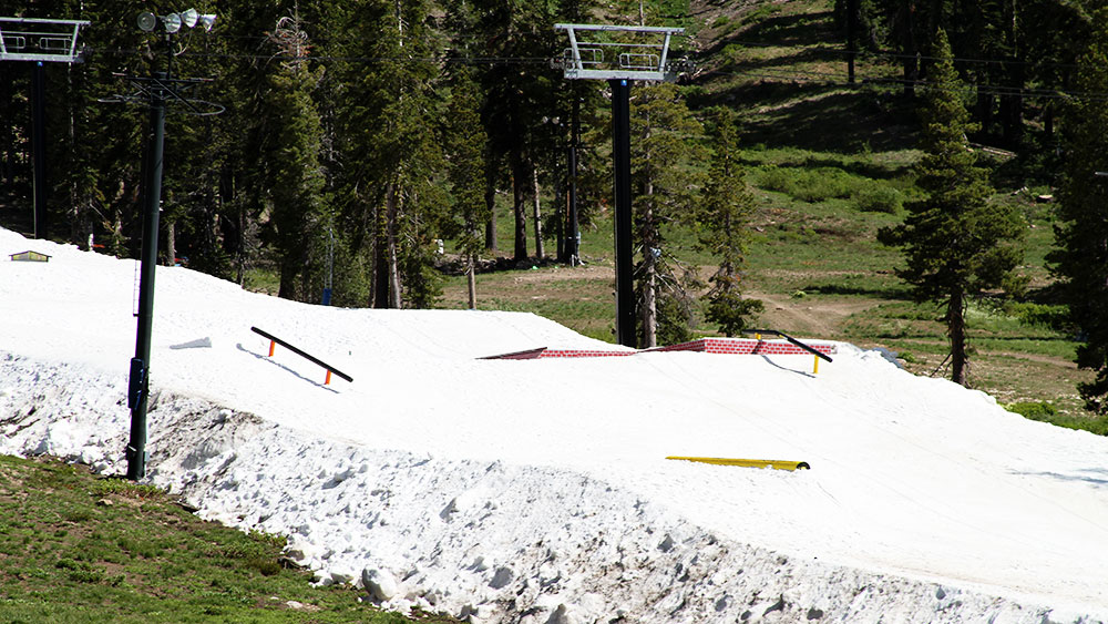 Strategic run placement and meticulous care of the snow will keep Woodward Tahoe on slopes this summer. PHOTO: Courtesy of Woodward Tahoe