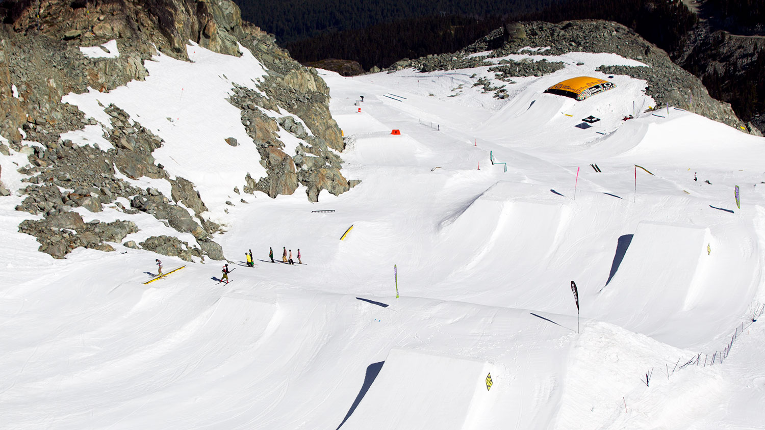 Located on Blackcomb's Horstman Glacier above Whistler, Camp of Champions' fortunate location means it will still open despite the low-snow year. PHOTO: Courtesy of Camp of Champions