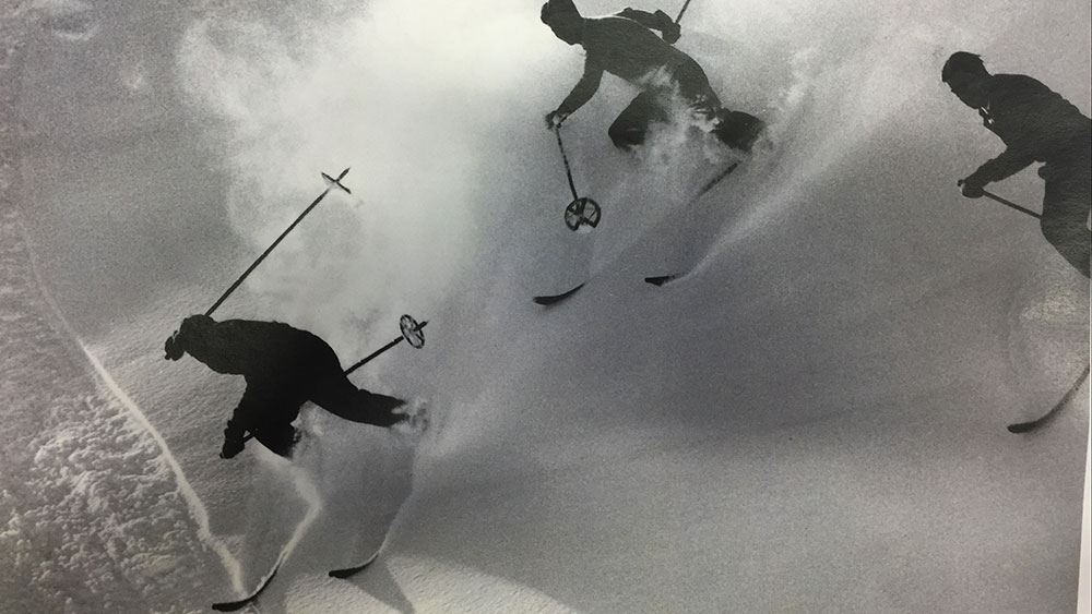 Queen Elizabeth used to shred the slopes at Engelberg, just like this. PHOTO: Porter Fox