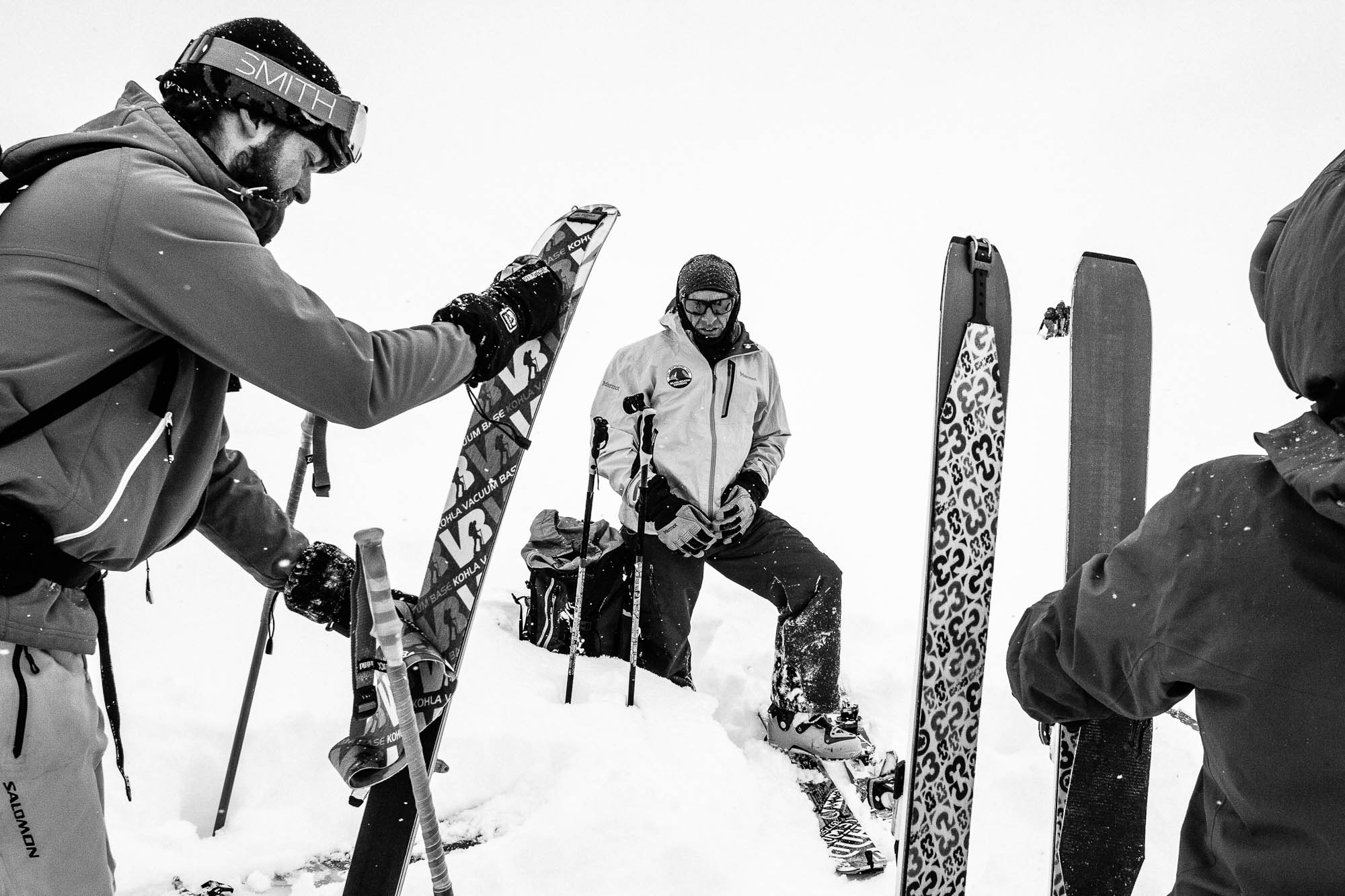 Ruedi Beglinger guides his clients through a blanket of whiteness with decades of experience. PHOTO: Ryan Creary