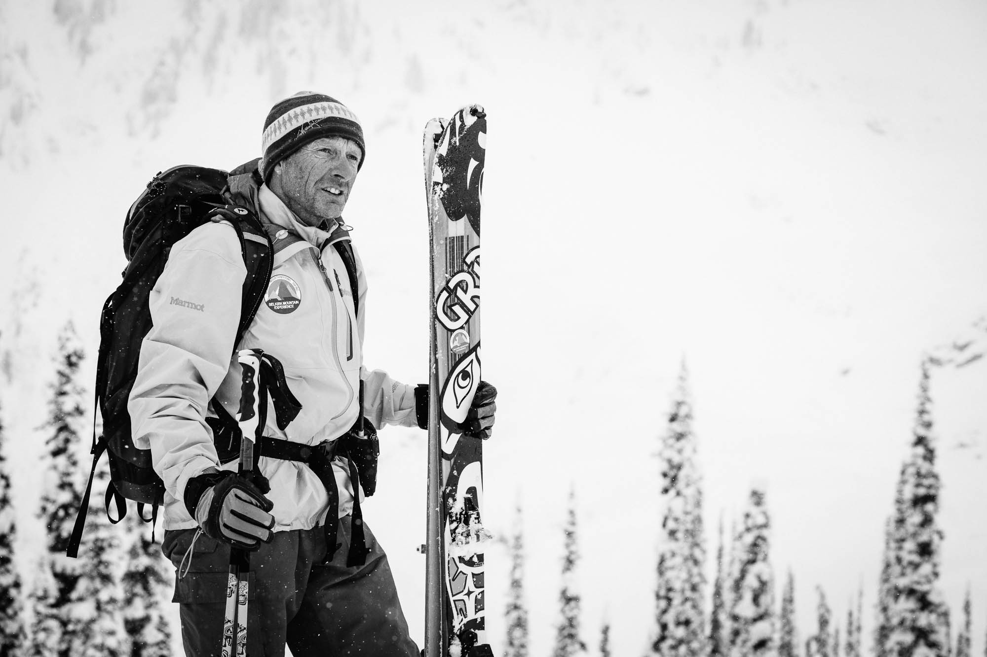 Swiss mountain guide Ruedi Beglinger has led people through the Selkirk Mountains for 30 years. His autocratic reputation precedes him. PHOTO: Ryan Creary