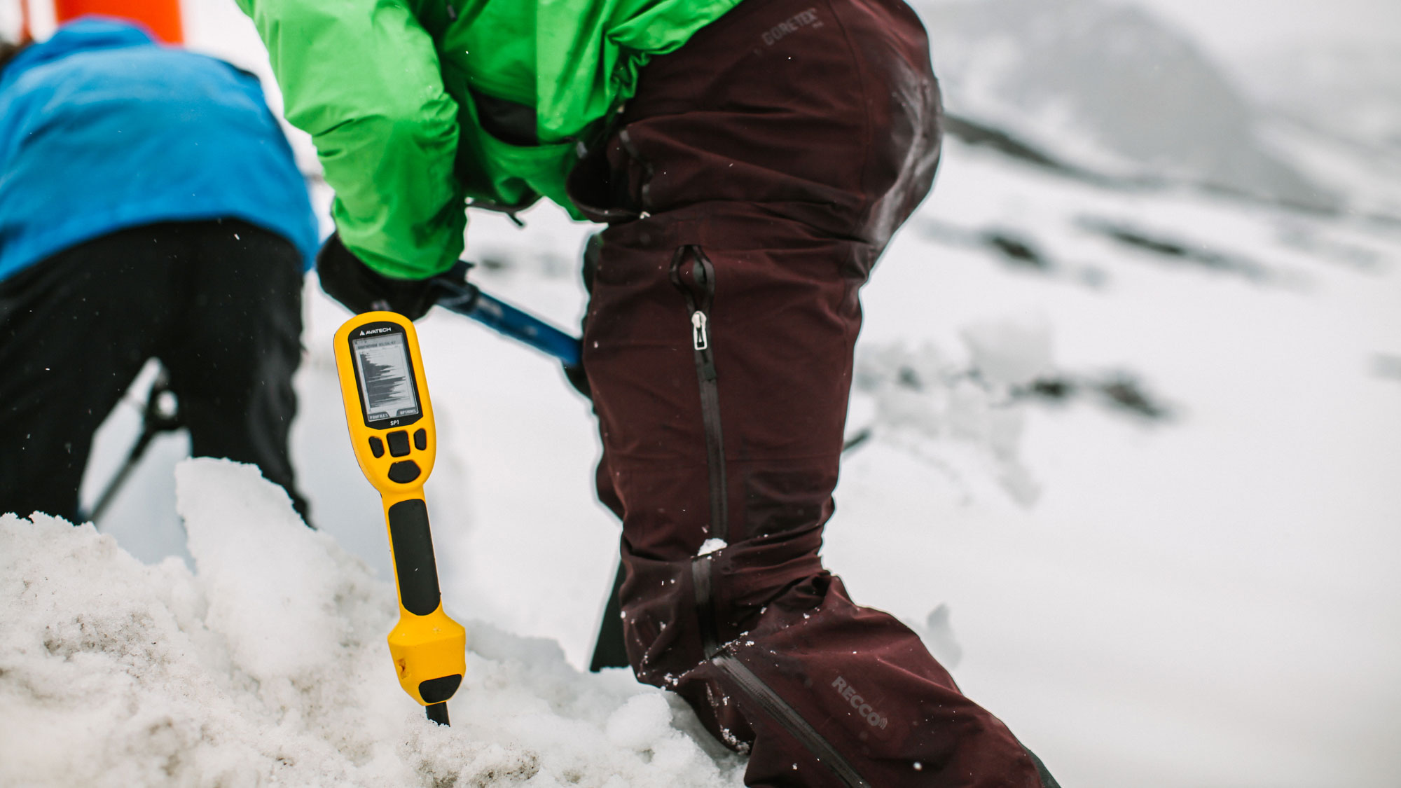 The AvaTech SP1 probe was sent out to avalanche centers and ski areas this winter for a beta test. Avy professionals say it's a valuable new tool to gather data quickly. But it cannot replace the protocols in place to determine snowpack stability. PHOTO: Courtesy of AvaTech