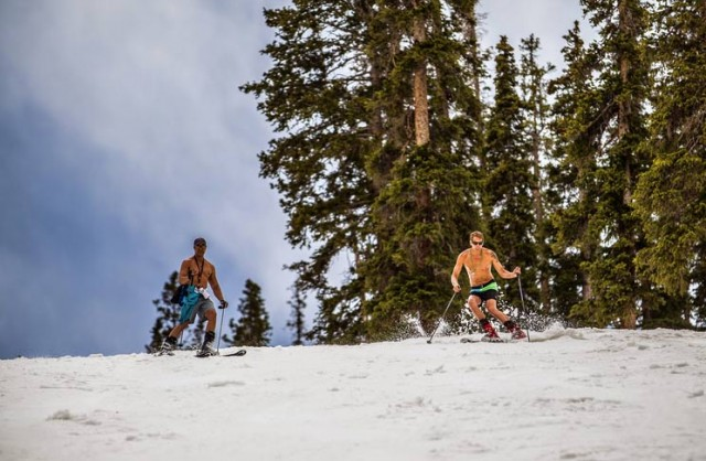 Screw goggle tans, A-Basin is going all the way. PHOTO: Arapahoe Basin Facebook page.