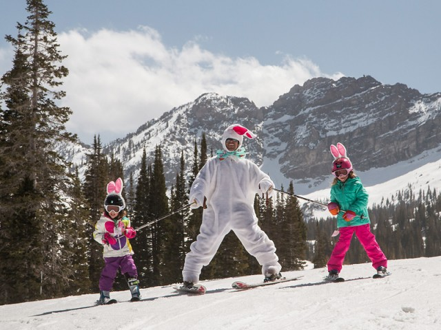 It's ski bunnies only at Alta. PHOTO: John Shafer/Courtesy of Alta