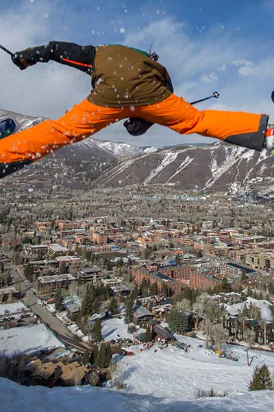 Lift 1A, the red shack, and the Skier's Chalet, just beyond that, represent Aspen's vintage counterculture past. Photo: Tom Zuccereno
