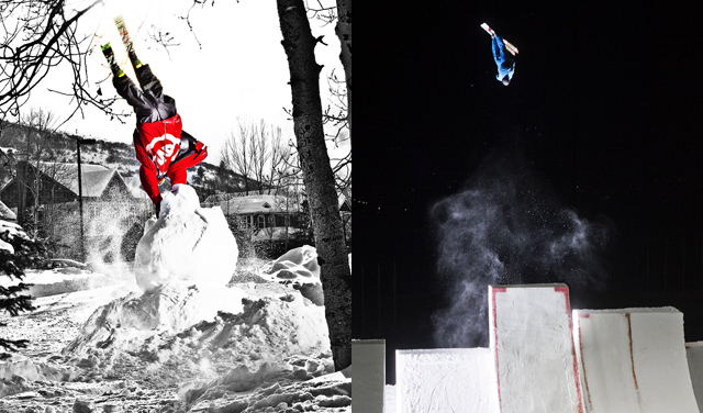 For years Ferguson balanced his World Cup aerials career with filming and freeskiing. PHOTO: Rocky Maloney