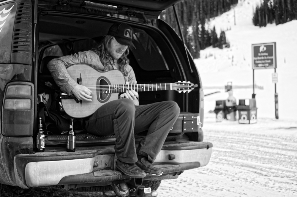 Mark Morris at home—on the guitar at Loveland Ski Area. PHOTO: Doug Evans