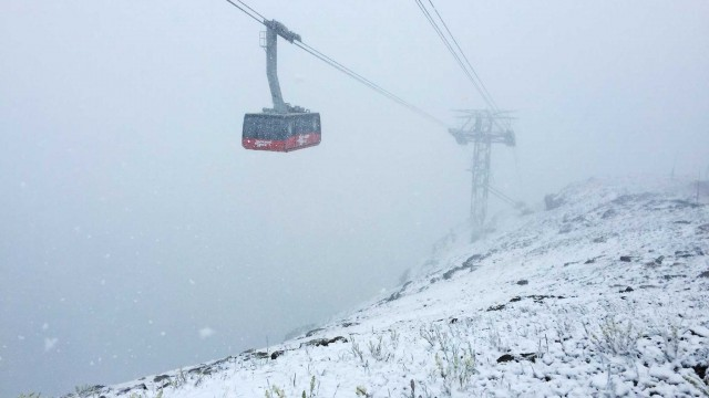 Snow at Jackson Hole Mountain Resort. Wait, it's July 27th. PHOTO: Peter Landsman