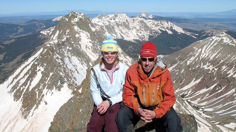 Brittany and Frank Konsella are normal folk living out the extraordinary pursuit of Colorado's high mountains. PHOTO:14er Skiers