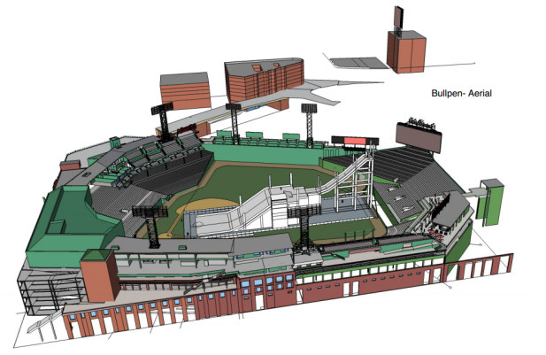 An initial rendering of Fenway's wicked big bootah, kehd. PHOTO: USSA.