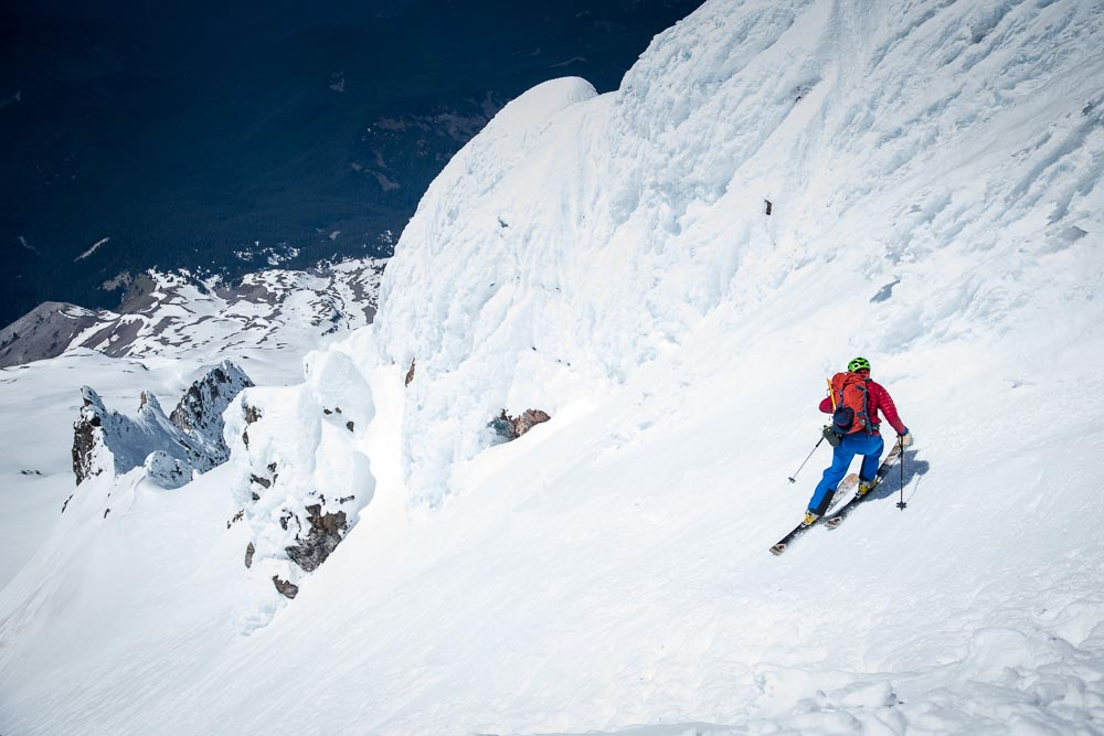 Ben Horan prefers his ski tours sunny side up. Location: Mount Hood. PHOTO: Tom Robertson
