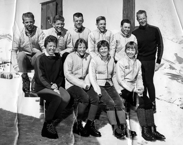 McCoy (back row, far right) with his racing team in the 1960s. He never charged his athletes anything, instead covering their race entry fees. PHOTO: Courtesy of Peter Morning