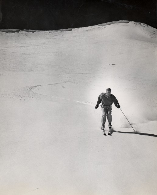 McCoy worked as a hydrographer while starting Mammoth Mountain. He was intimately familiar with the best places to ski in the Eastern Sierra. PHOTO: Mammoth Mountain Ski Area