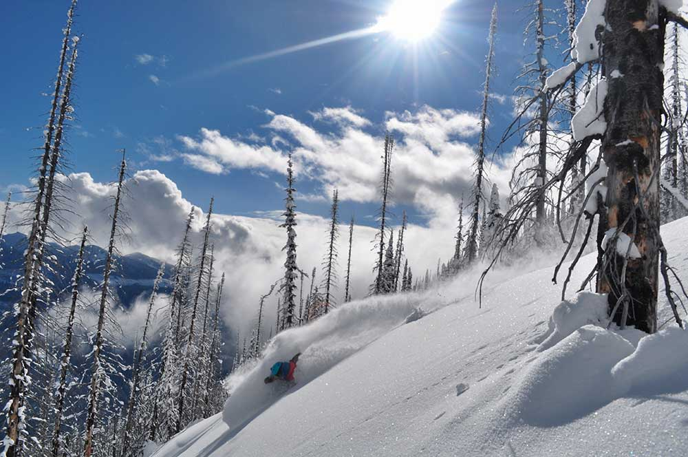 No work, all play, all winter. Maddie Crowell makes it count in Revelstoke. PHOTO: Jono Doherty