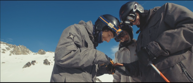 Look how cool and likable these guys are! You can be like them if you a buy an $800 helmet that won't protect your brain, but will protect your game. PHOTO: Forcite Alpine