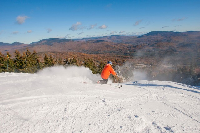 Ski top to bottom at Sunday River, where two runs opened this morning. PHOTO: Courtesy of Sunday River