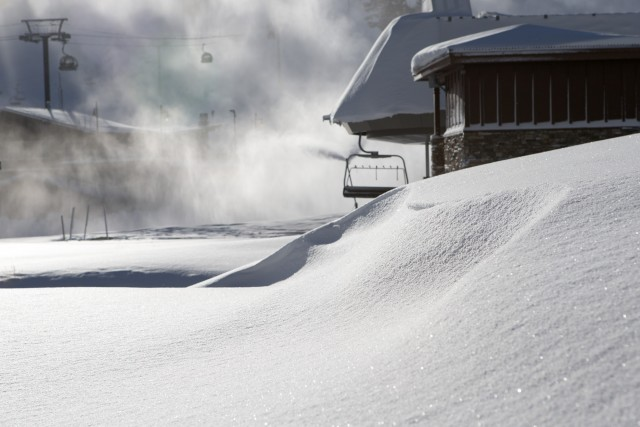 The first major storm of the  2015/2016 season dropped nearly three feet of snow at Mammoth's summit. PHOTO: Mammoth Mountain