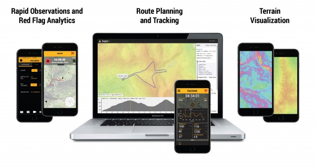 From planning and tracking your trek to crowd-sourcing information Avanet arms skiers with data. Photo: Courtesy of Avatech.