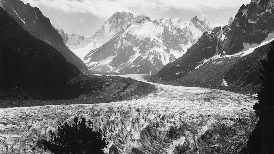 The Mer de Glace Glacier in Chamonix is the longest glacier in France. This photo was taken in 1915. PHOTO: JF Charlet Bissons