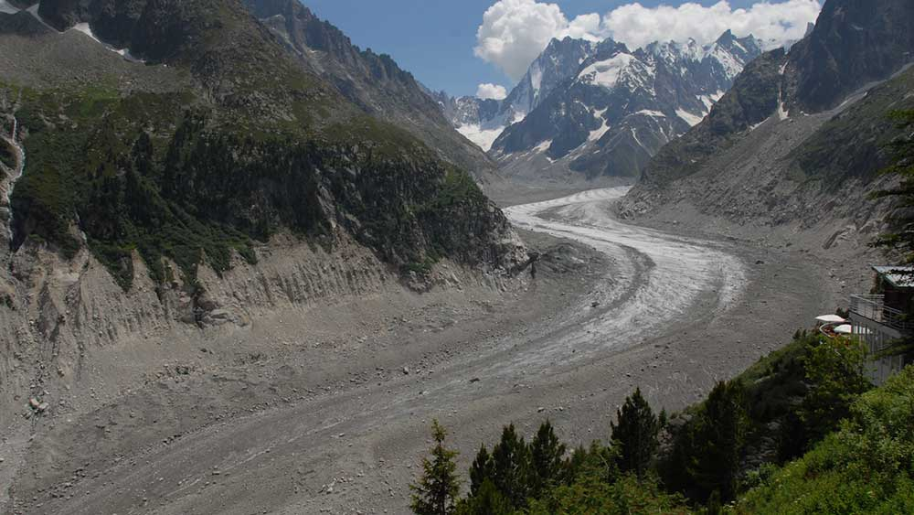 The Mer de Glace in 2009. PHOTO: Luc Moreau