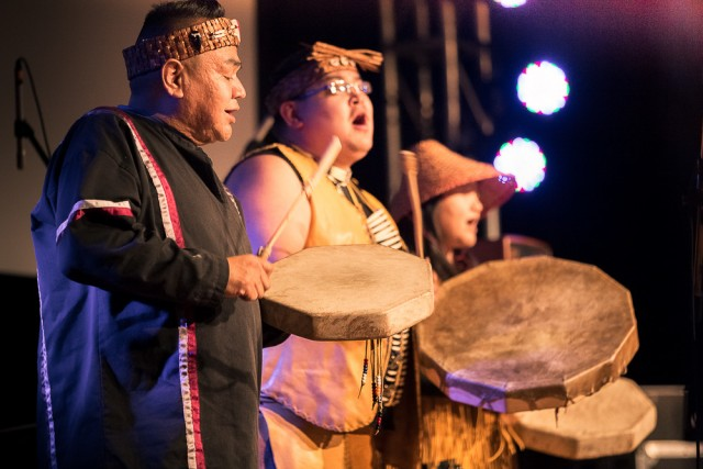 An opening performance by the Sqawmish and Lil tribe paid tribute to the rich history in Whistler. PHOTO: Robin O'Neill
