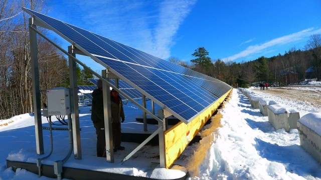 Solar Panels at Mt. Abram ski area. Photo Courtesy Maine Office of Tourism.