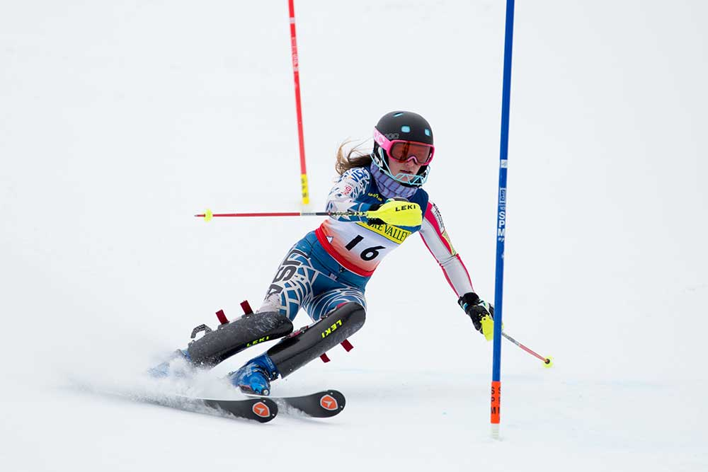 Madison Lord's shot at elite ski racing became much easier with the creation of a new East Coast-based program. PHOTO: USSA