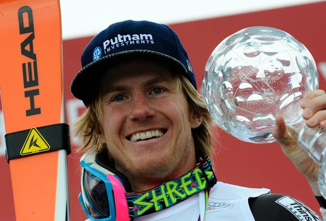Ted Ligety with trophy