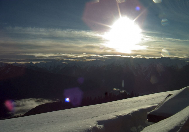 It's a beautiful day Hurricane Ridge, Washington, and not just because the small ski resort joined the Mountain Playground Group. PHOTO: Lodge Cam