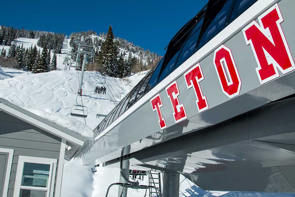 The Teton Lift carries skiers 1,722 feet up a previously underutilized part of the mountain. PHOTO: Courtesy of Jackson Hole