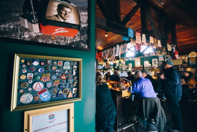 Gordi's Fish and Steak House, in Lincoln, has all you need for a classic ski bar.