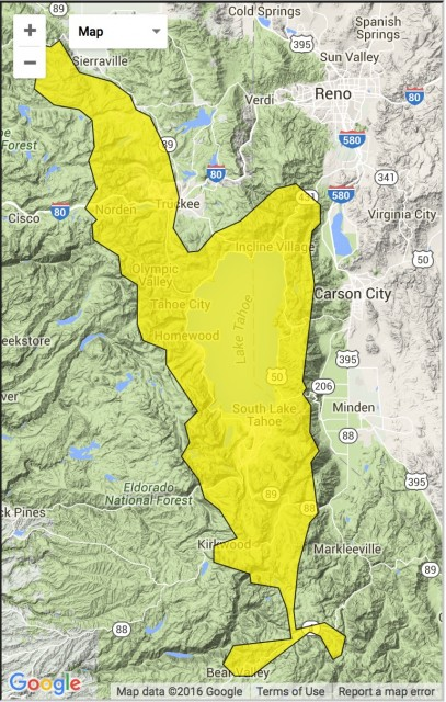 Moderate avalanche danger in the Sierra. PHOTO: SierraAvalancheCenter.org