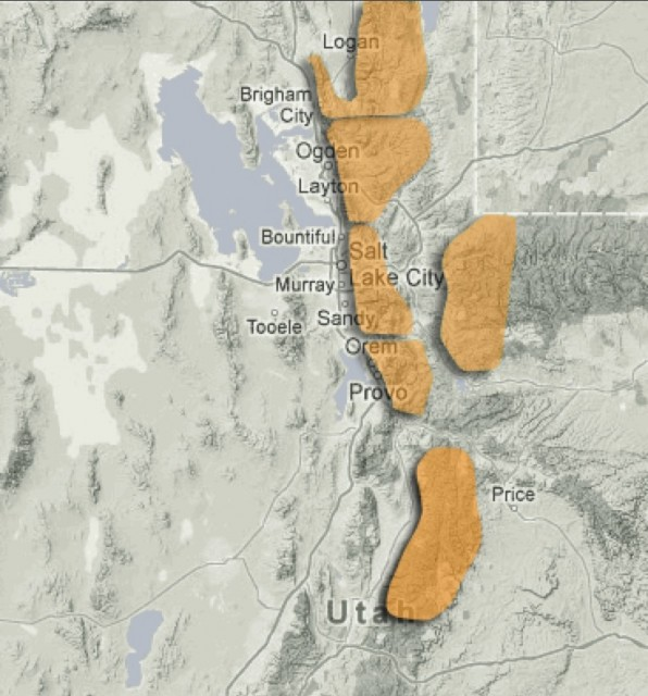 Considerable avalanche danger in the Wasatch and Uintas. PHOTO: UtahAvalancheCenter.org