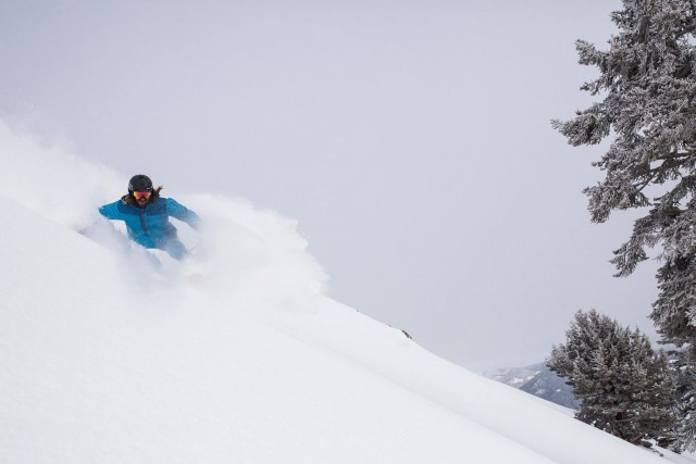 Kaya Lampa undergoes treatment for powder fever at Squaw Valley Alpine Meadows. PHOTO: Ben Arnst