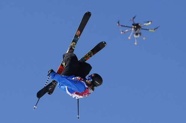 Beep beep! U.F.O. (unmanned flying object) coming through. PHOTO: Sergel Grits/AP