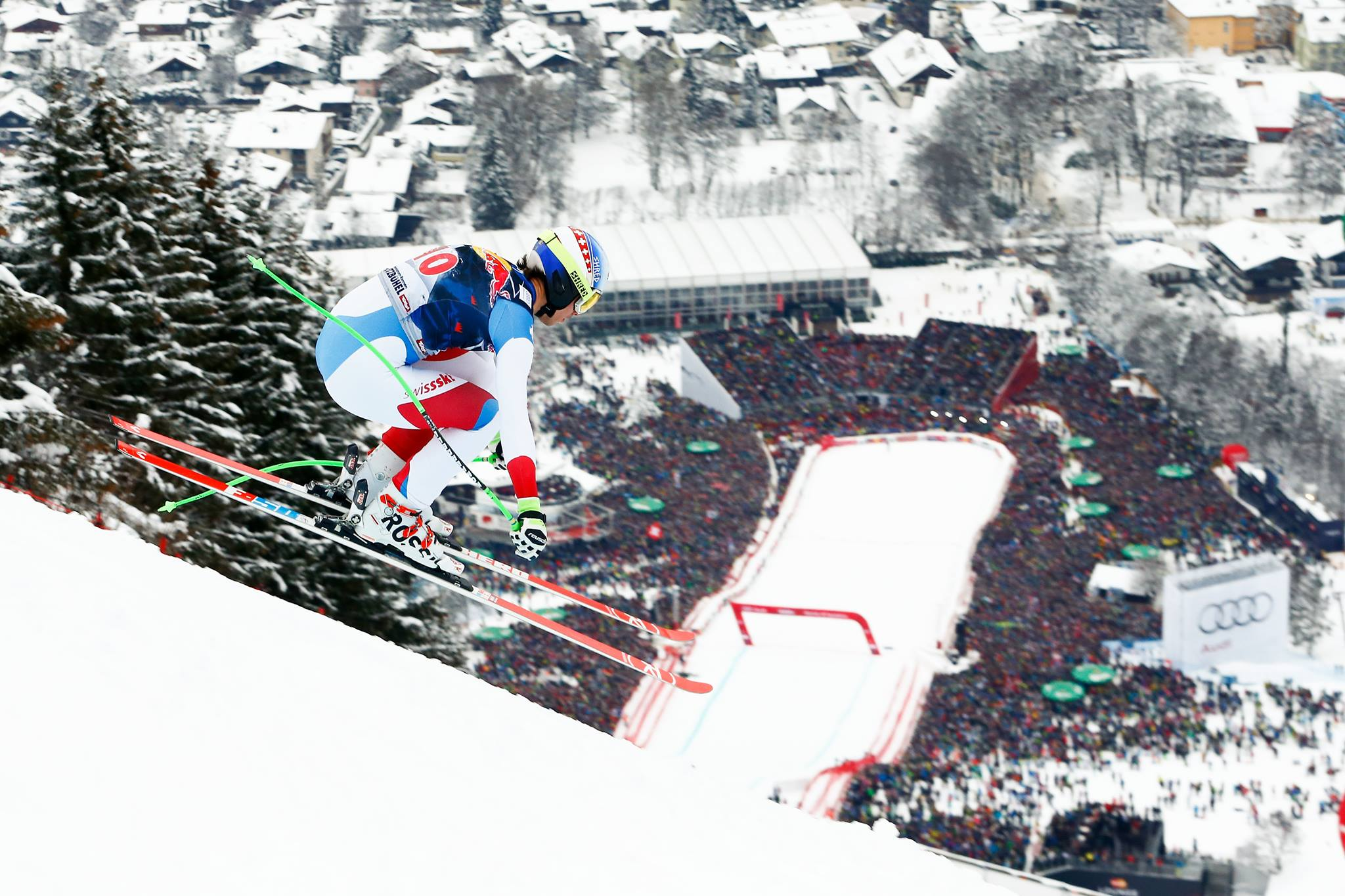 Carlo Janka, this weekend's champion, catching air at speeds that might make a normal human pass out. PHOTO: Carlo Janka/Facebook