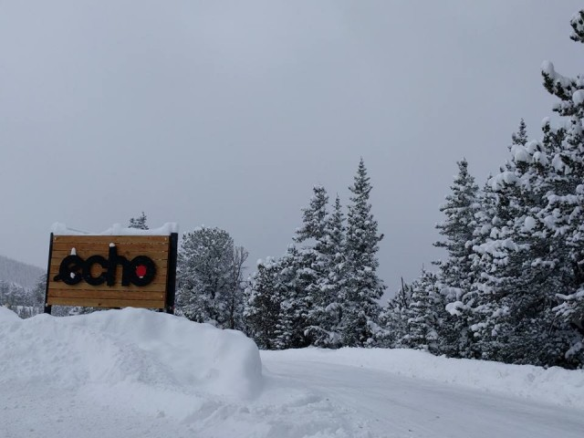 Welcome to Echo. PHOTO: Echo Mountain Resort