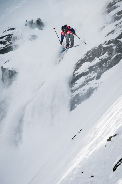 Ian Borgeson is just 22 years old but one tough competitor. Here, he sends it at Verbier. Photo: David Carlier