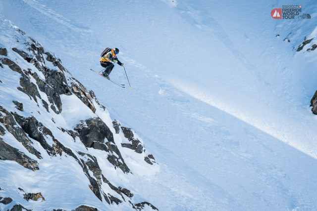 In his first year on the Freeride World Tour, George Rodney took home the title. Photo: David Carlier