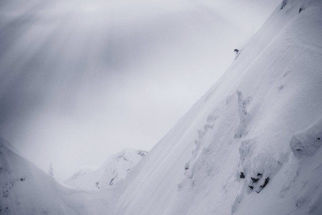 From steep big mountain lines, to technical cliff zones, Cold Rush put the entire ski gamut to work. Suz Graham showing she's all business. PHOTO: Scott Serfas/Red Bull Content Pool.