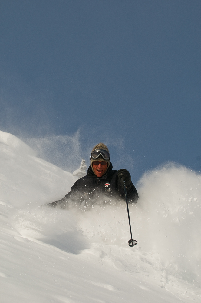 Wieringa knows the pressure is on him to protect snow like this. PHOTO: Lee Cohen