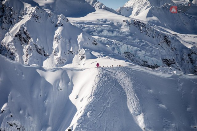 Nothing like big mountains to make you feel small. Haines, Alaska, 2015. PHOTO: D. Carlier/Freeride World Tour