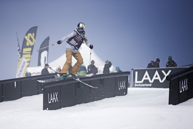 Kelly Sildaru collects another victory with tricks like the back-to-back 9 combination. PHOTO: Courtesy LAAX