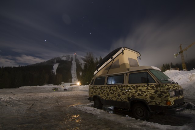 Tucked in for the night at Red Mountain. PHOTO: Nick Simon