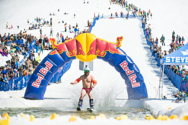 Endurance athletes like these will be competing for eternal glory at the Pond Skimming World Cup Championship. PHOTO: Zach Doleac