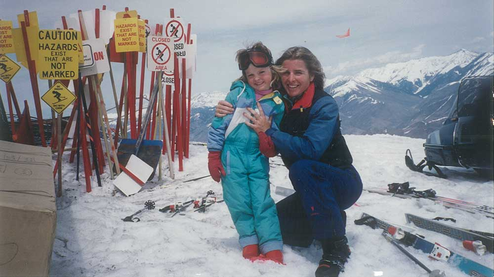 The author with her mom at Sun Valley, Idaho. PHOTOS: Courtesy of Katie Matteson