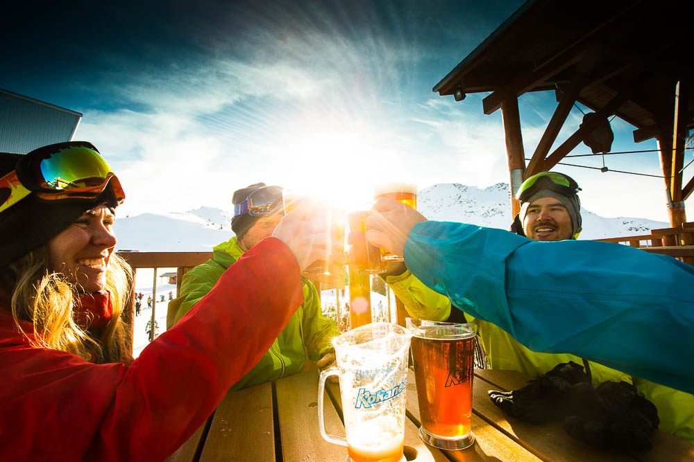 Sometimes skiing is just an excuse to drink. And that's okay. Especially during prime apres ski season. PHOTO: Adam Baker