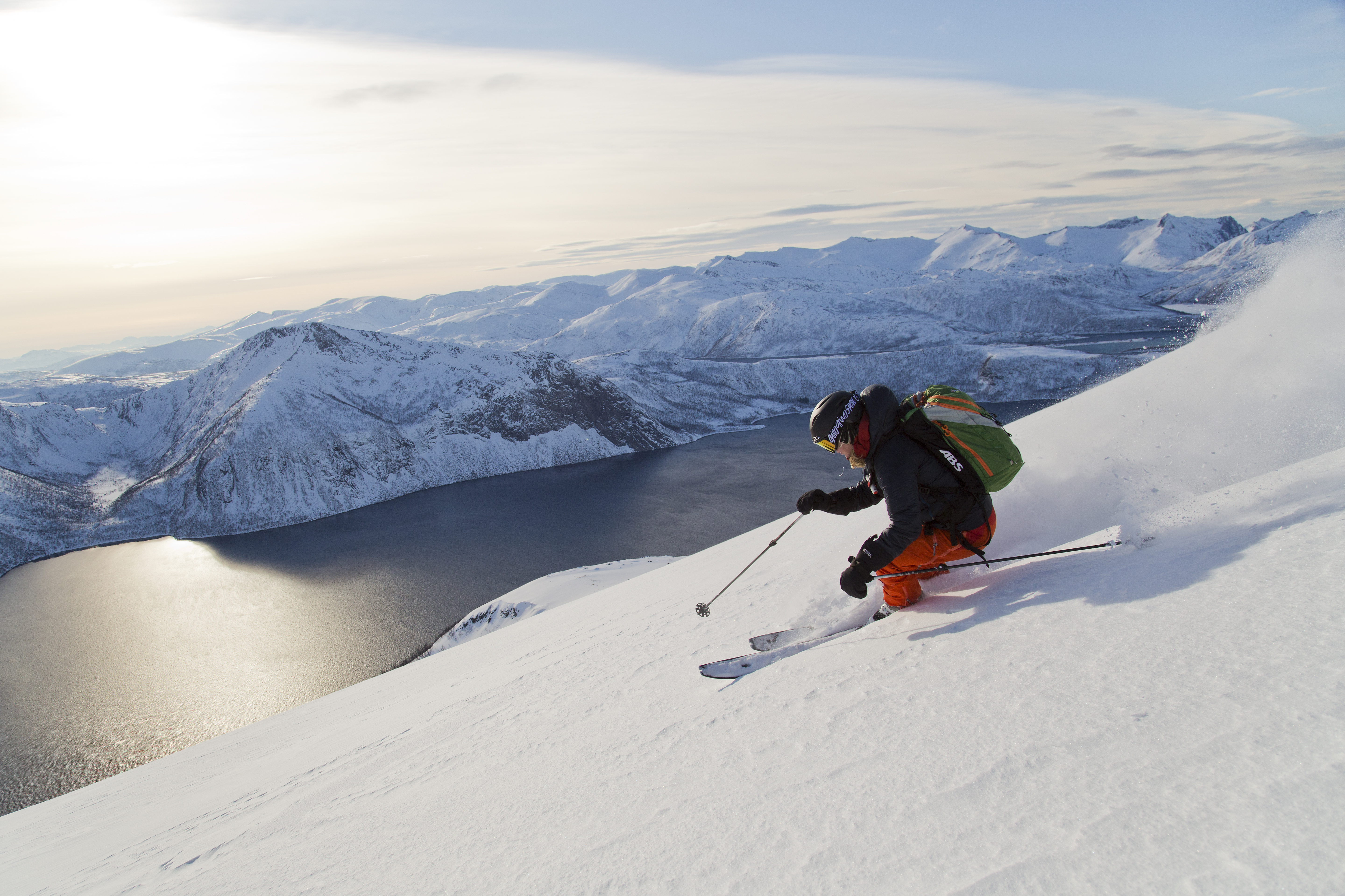Out in the great wild north of Senja, Norway, it all lines up for Camilla Antonsson. PHOTO: Fredrik Schenholm